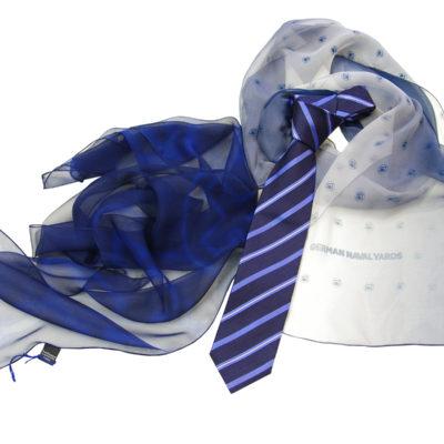German Naval Chiffonschal und Krawatte